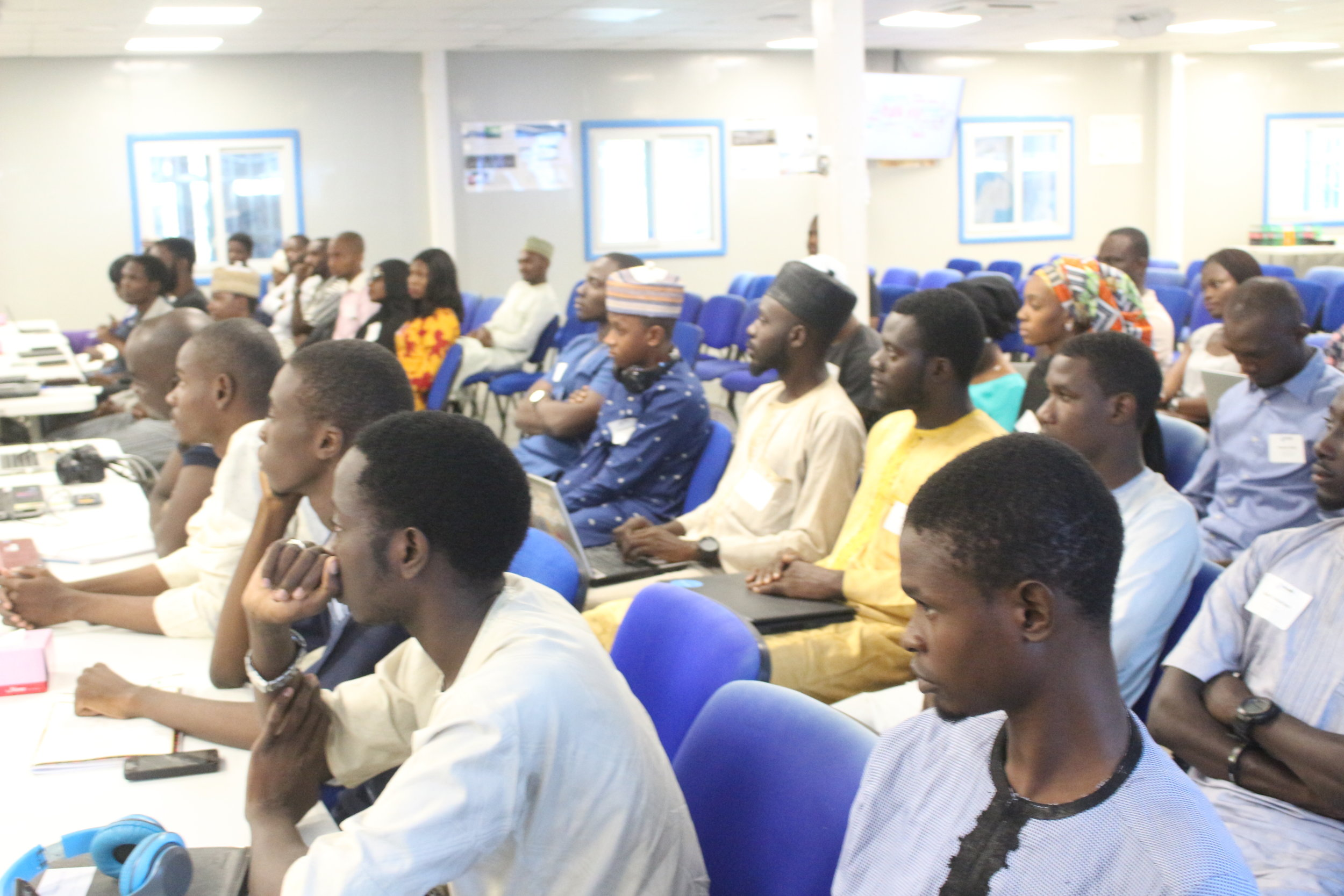 Over 40 participants from Bayero University, Kano State University and other parts of Kano State attended the meetup