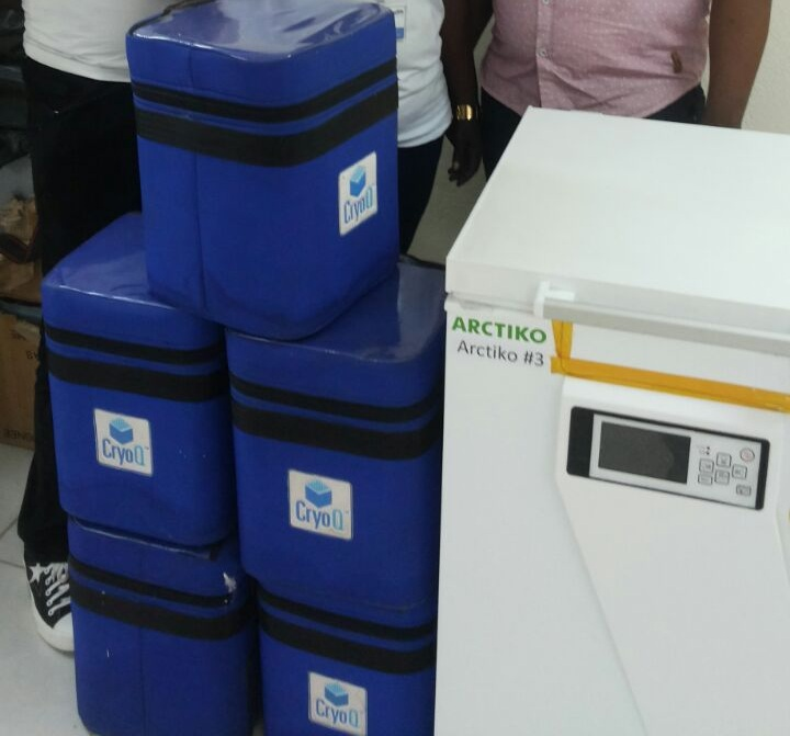 Remaining supplies/equipment purchased under the contract were declared to CDC using the SF-1428. The Equipment were given to the MOHS to help maintain a national cold chain