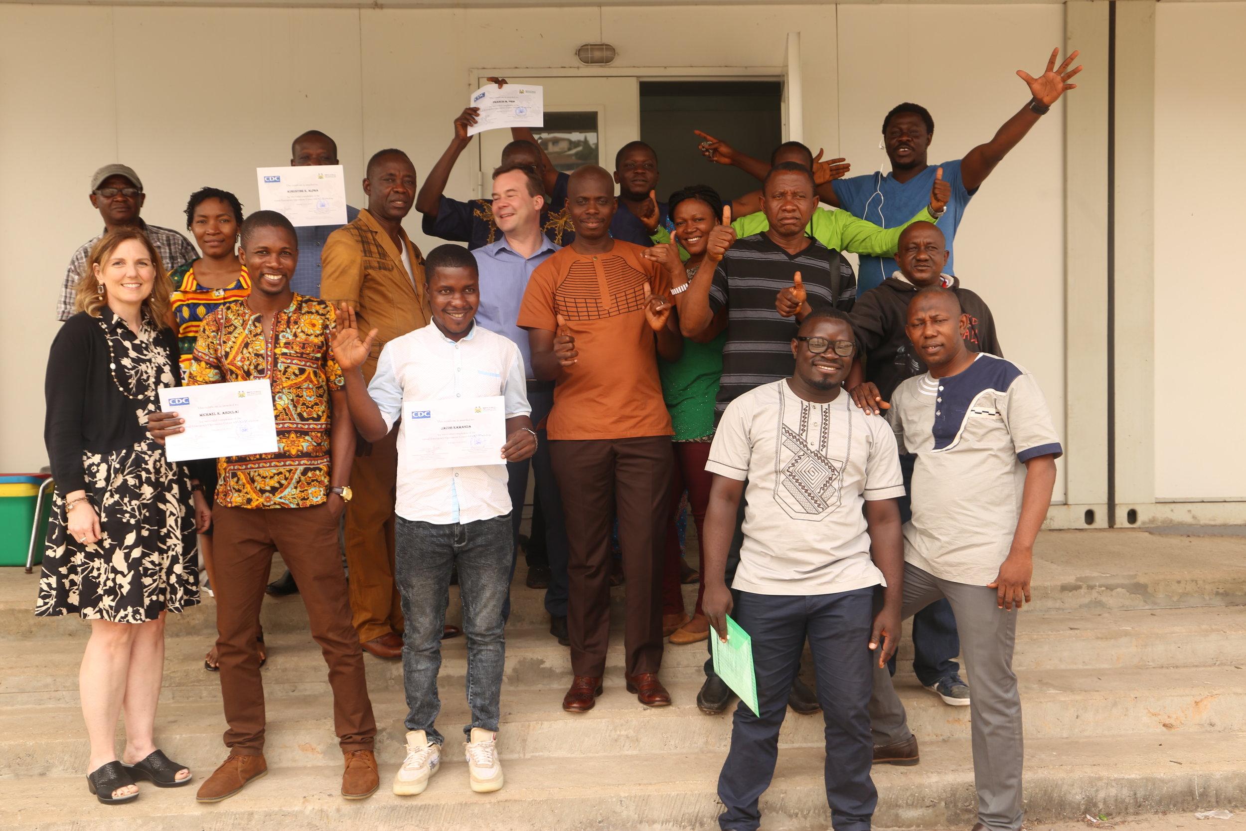 Virtual EOC training participants