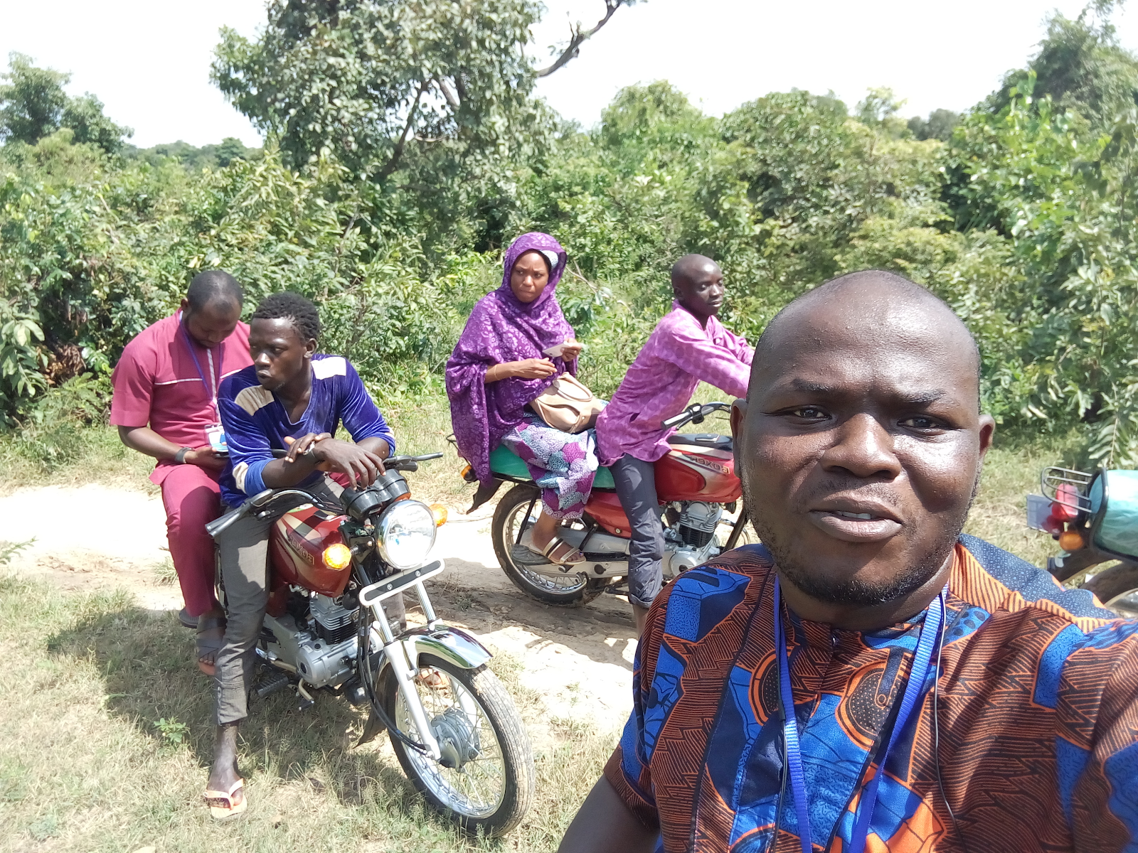 eHealth Africa staff including MER lead, Yinka Orefunwa visit Soba LGA in Kaduna State to conduct data quality assessments for the CHAI survey