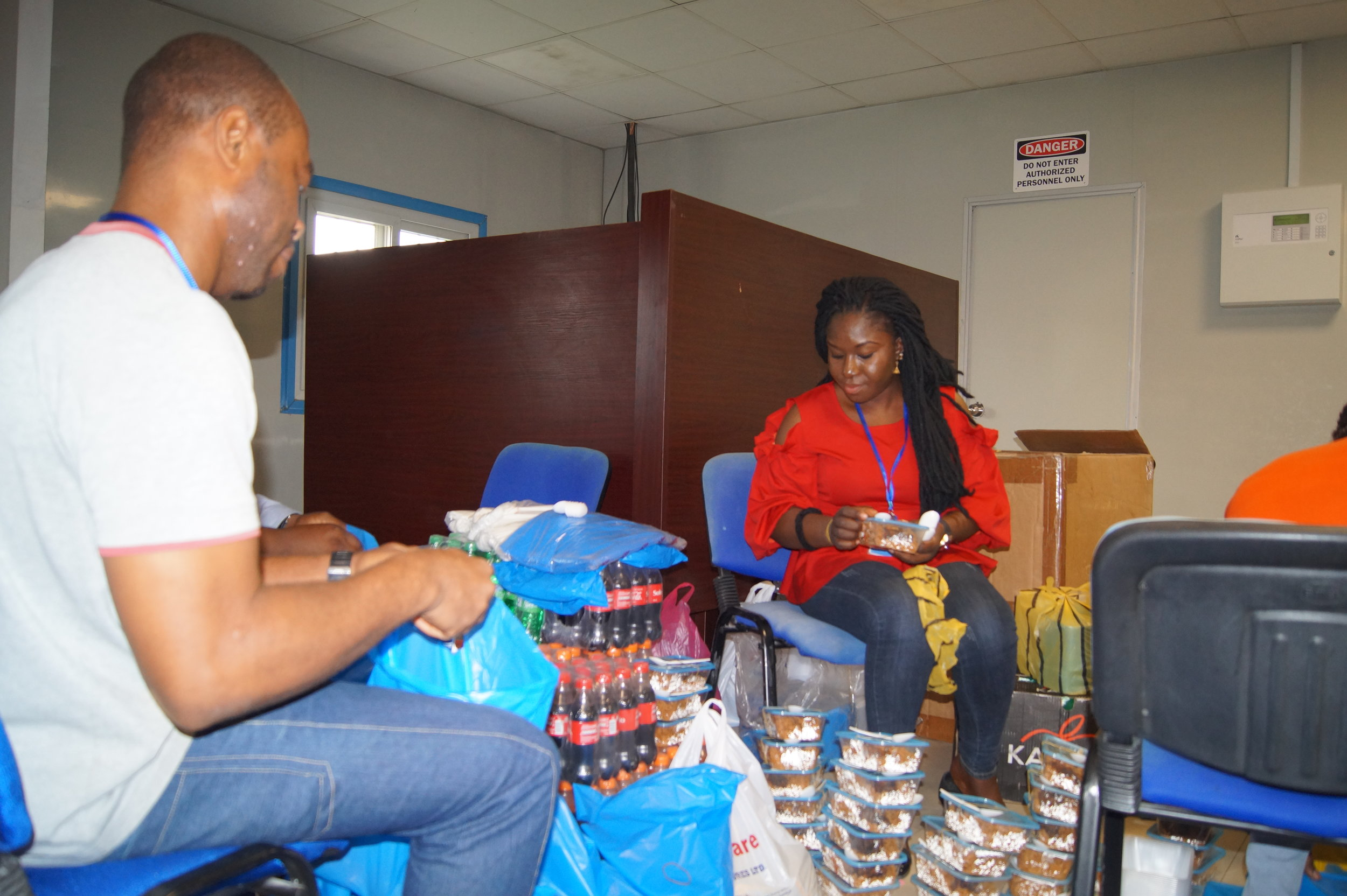 eHA Staff at our Kano office preparing the Iftar packs