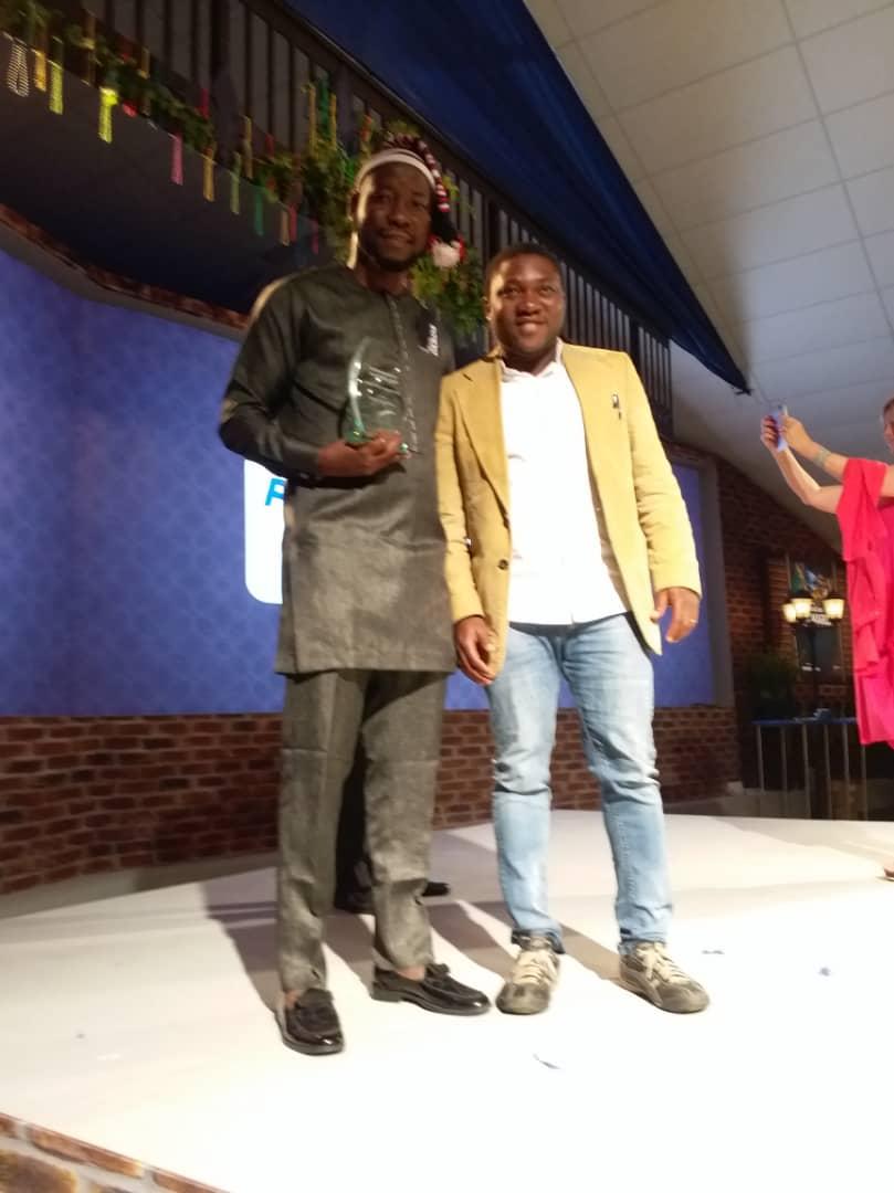 Chinedu Anarodo and Cornelius Adewale at the award ceremony