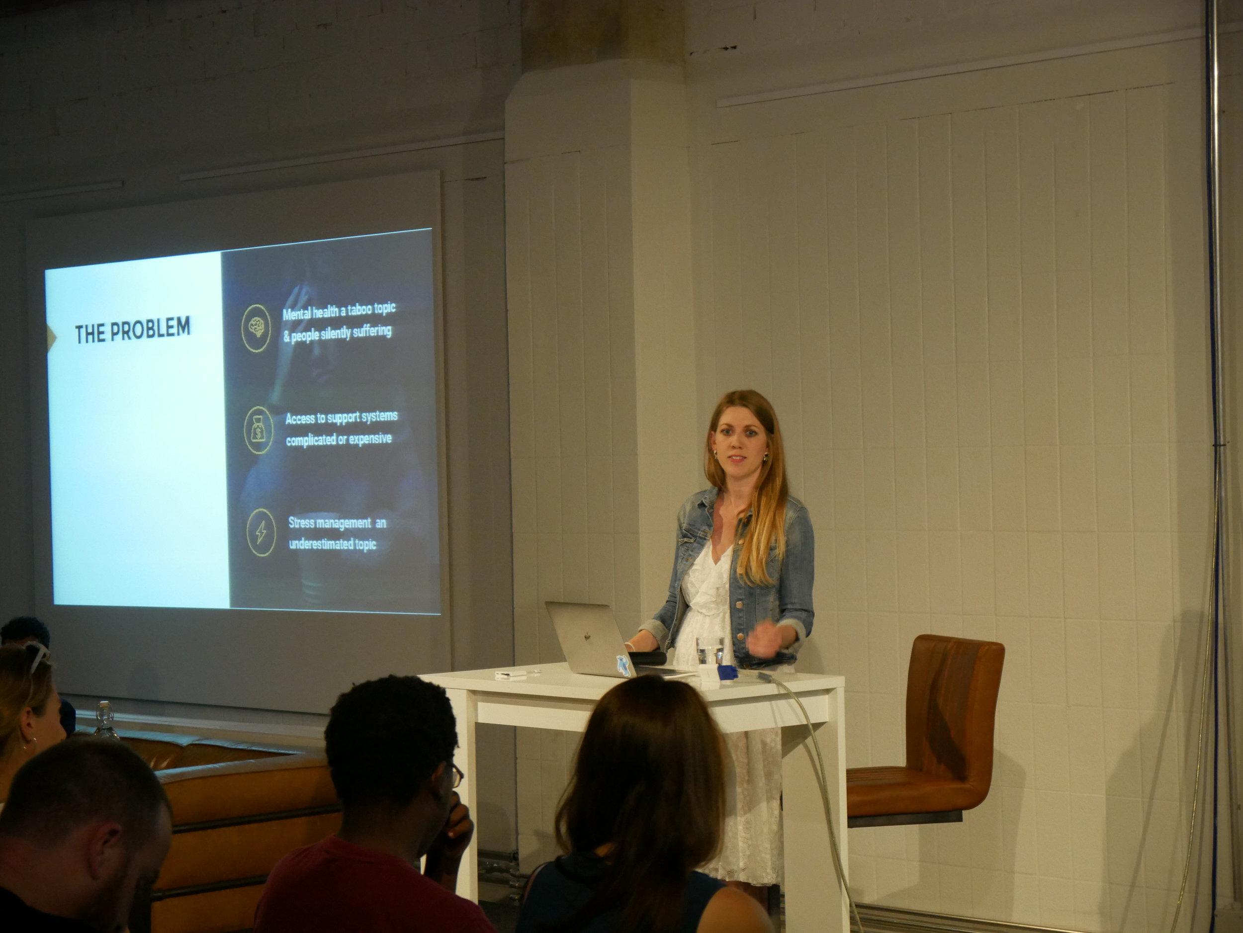 "Vanessa von Frankenberg of Digital Health Factory discussing ""Innovative Ways to Use Digital Health for Global Good"""
