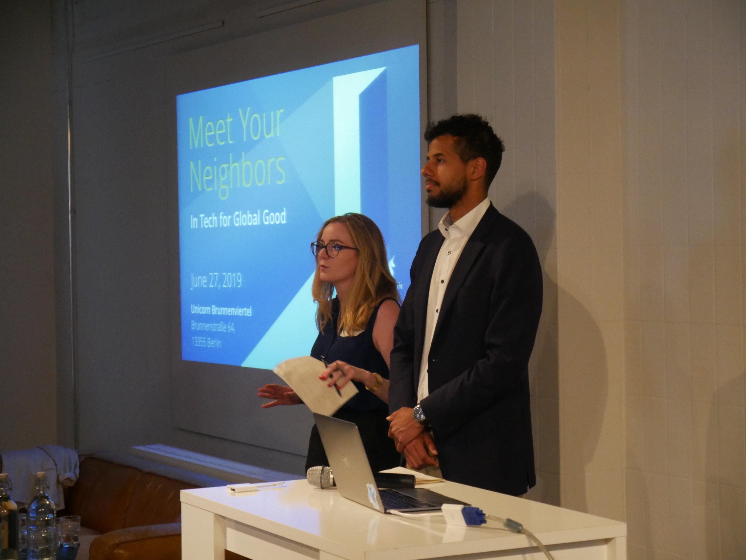 Hosts, Jennifer Bencivenga and Sannssi Cisse