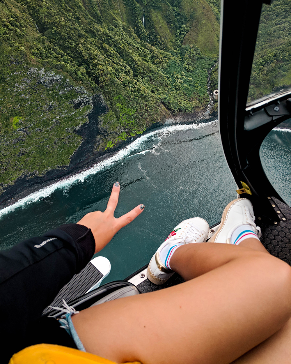 Open door helicopter Maui Hawaii to do
