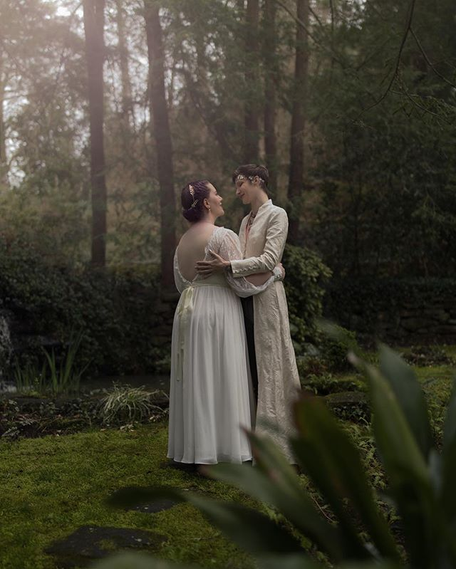 Such a joy to be a part of this fairytale wedding day. I can't get enough of the way these two look at each other.  Photography   @silverwinteroak/@theenchantedwild #ImWithJennifer2019