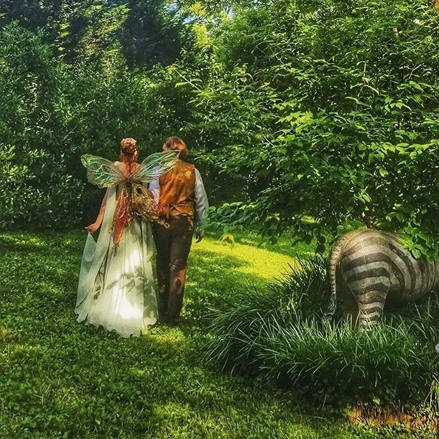 One year ago today this lovely couple rented our wings for their wedding. Isn't this picture just so magical? Grateful to be a part of these special days.  Picture from @dawndlove