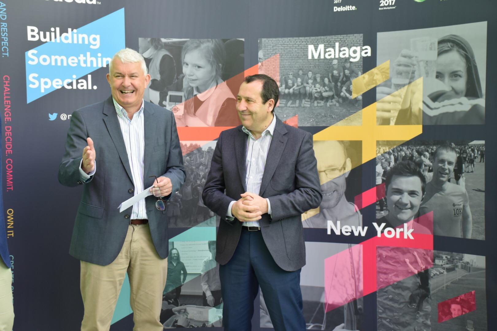 Brendan Monaghan, Neueda CEO, alongside José Luis Ruiz Espejo, president of PTA