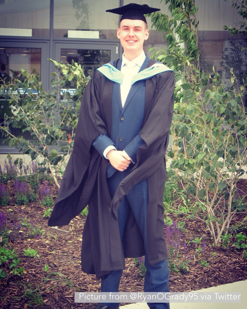 Ryan in his graduation gown