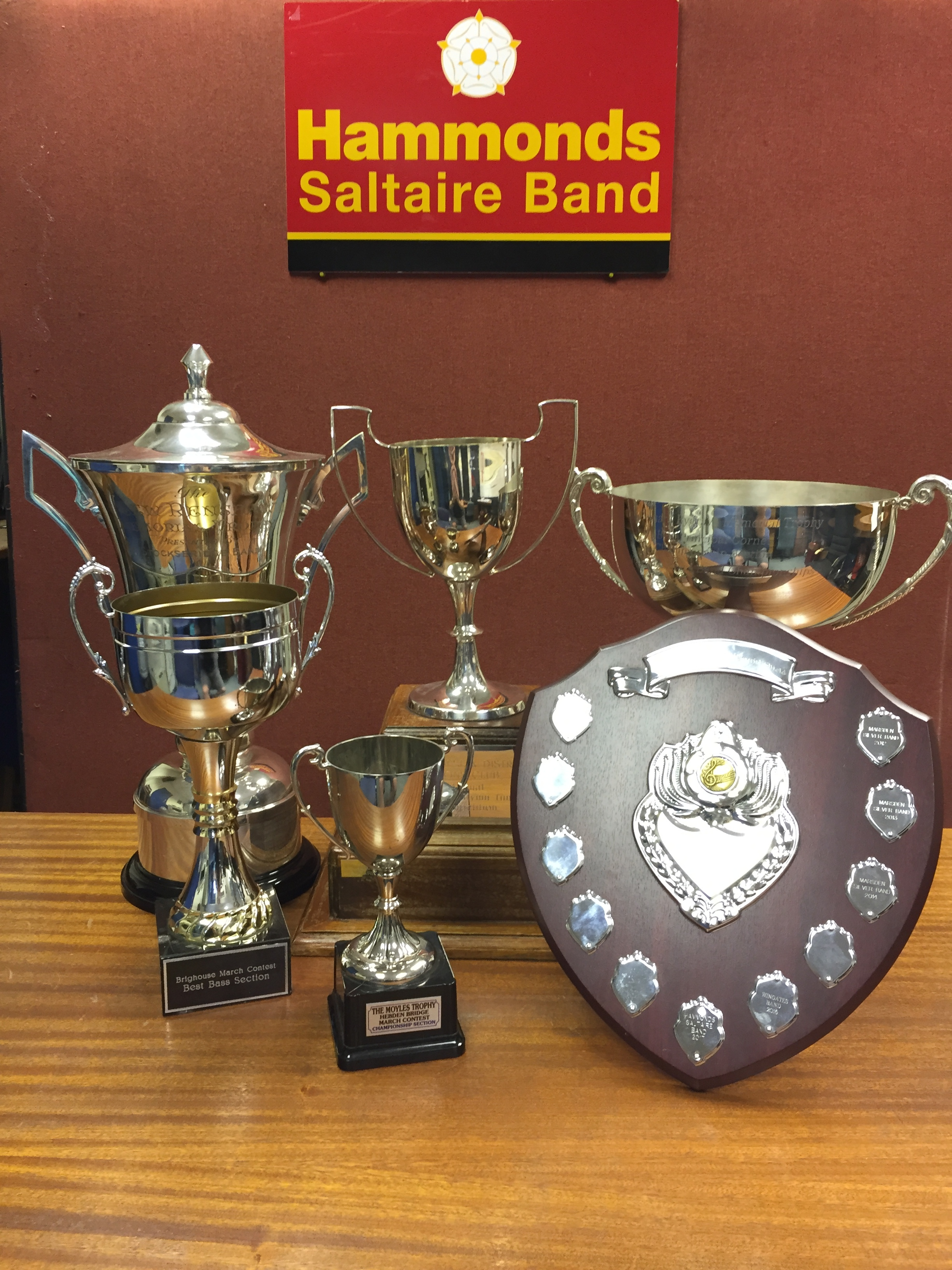 Some of the silverware we have aquired during 2017