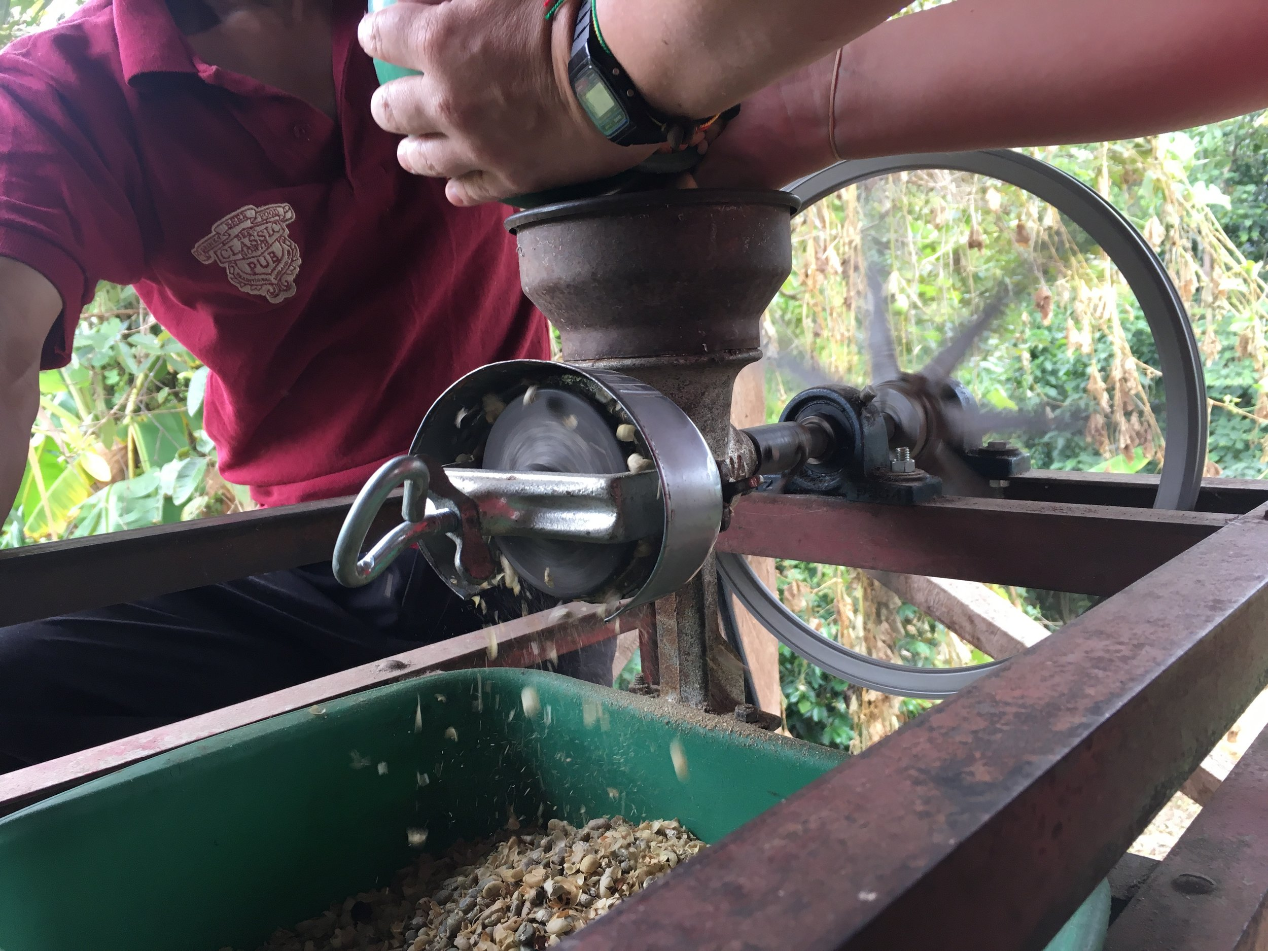Manual coffee grinder.  Photo credit: Rubez Chong