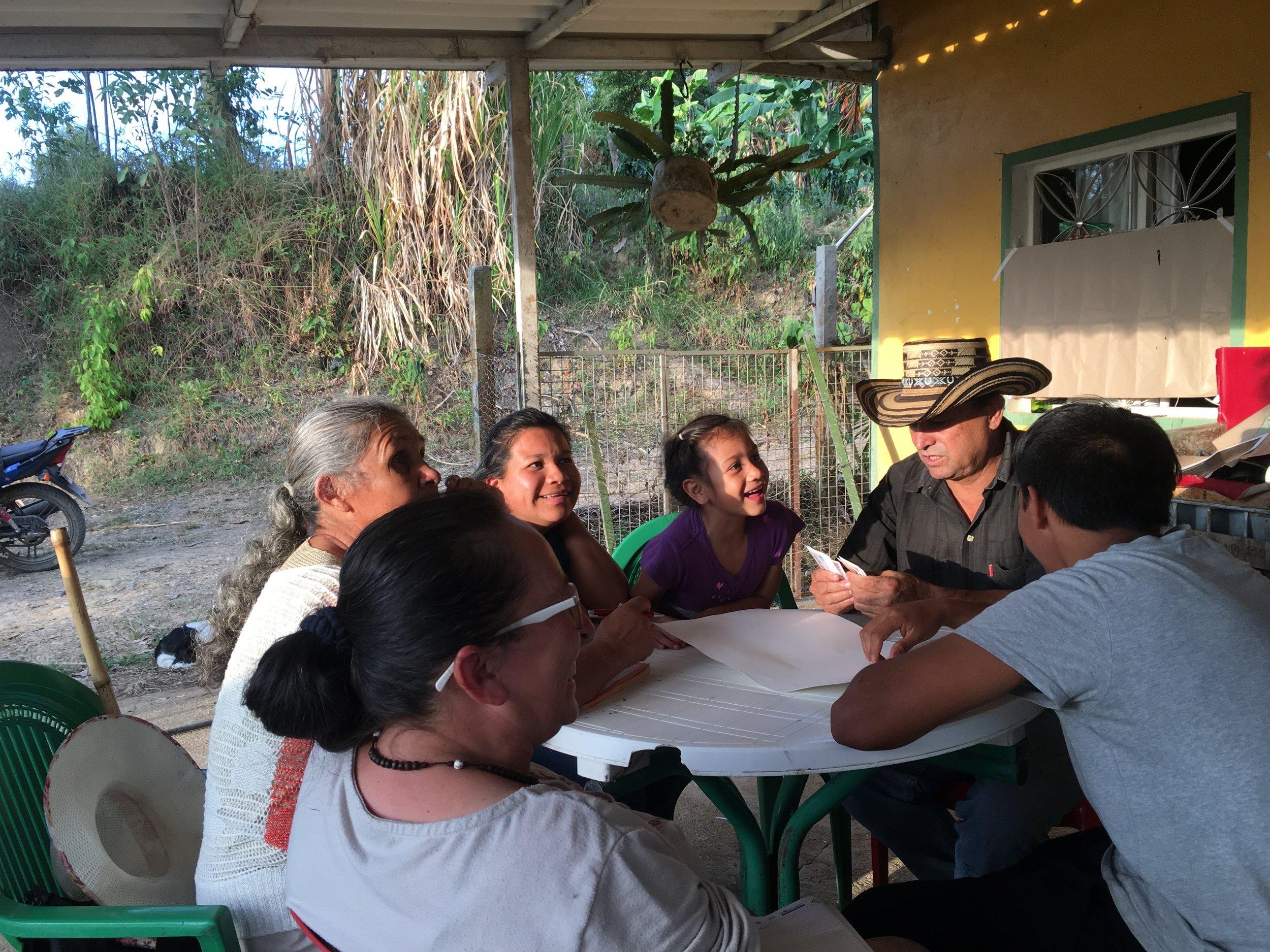 De Finca coffee growers getting acquainted with financial terminologies.  Photo credit: Rubez Chong