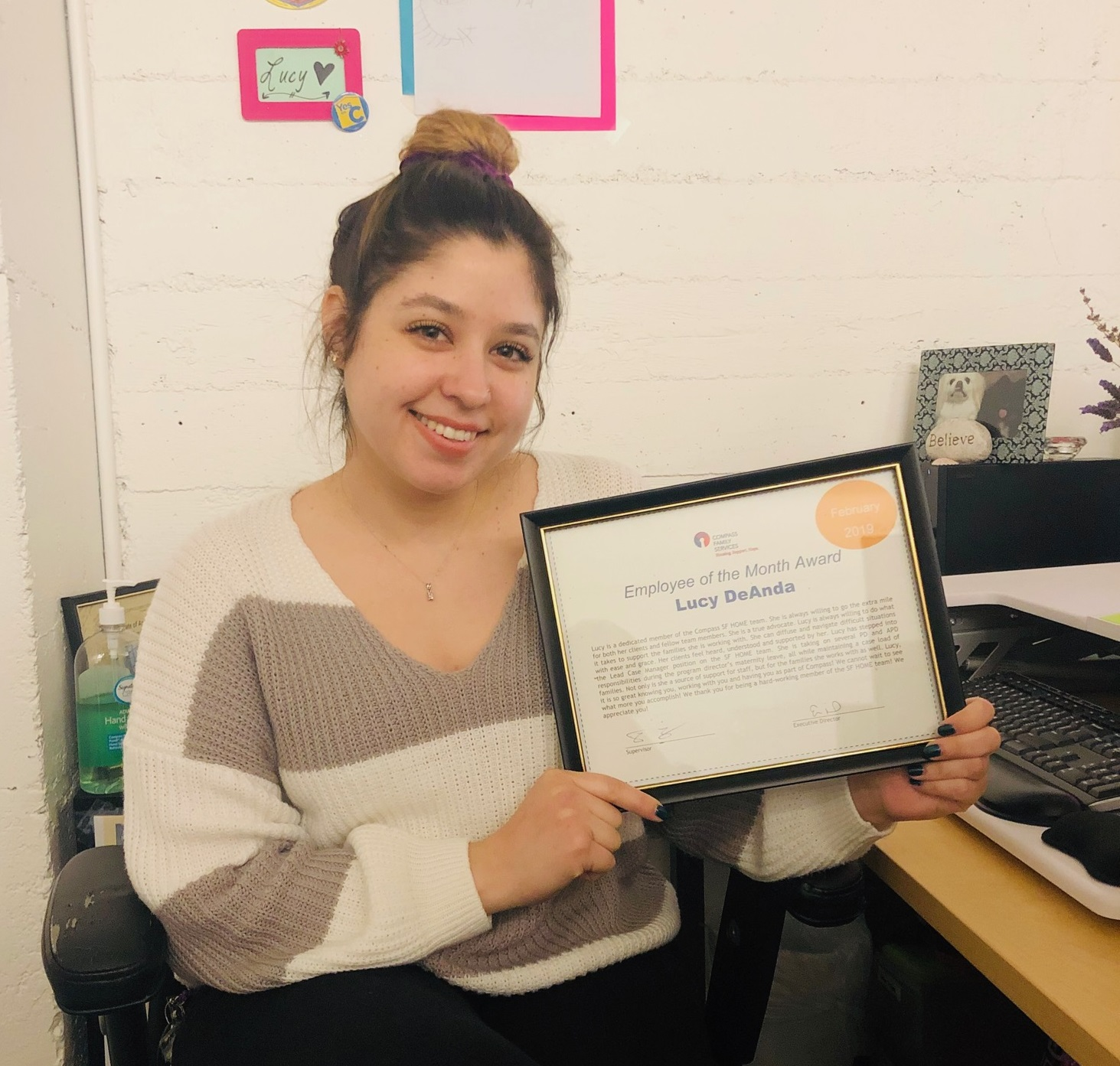 Lucy DeAnda - Congratulations!