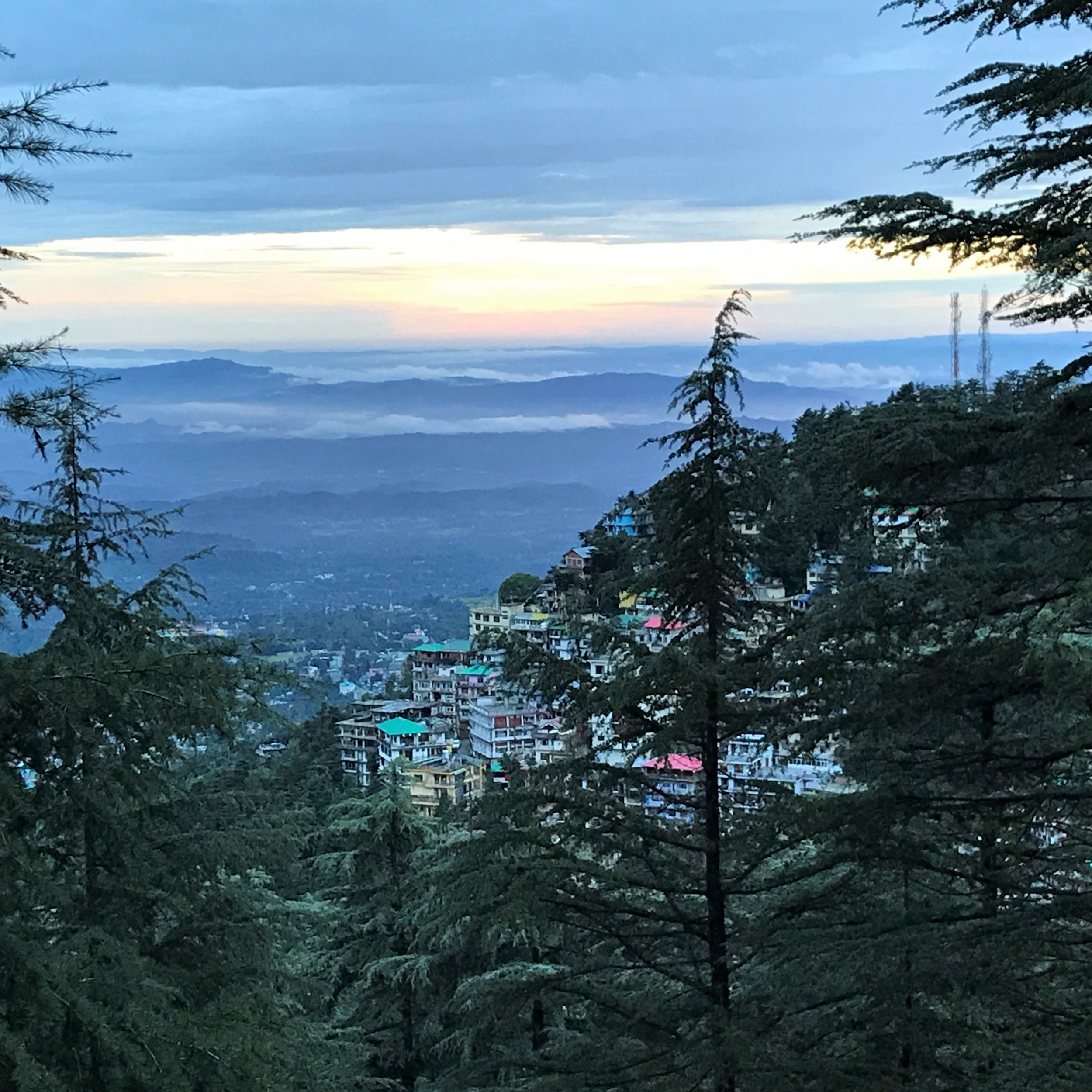 Mcleod Ganj as seen from the road up to Dharamkot