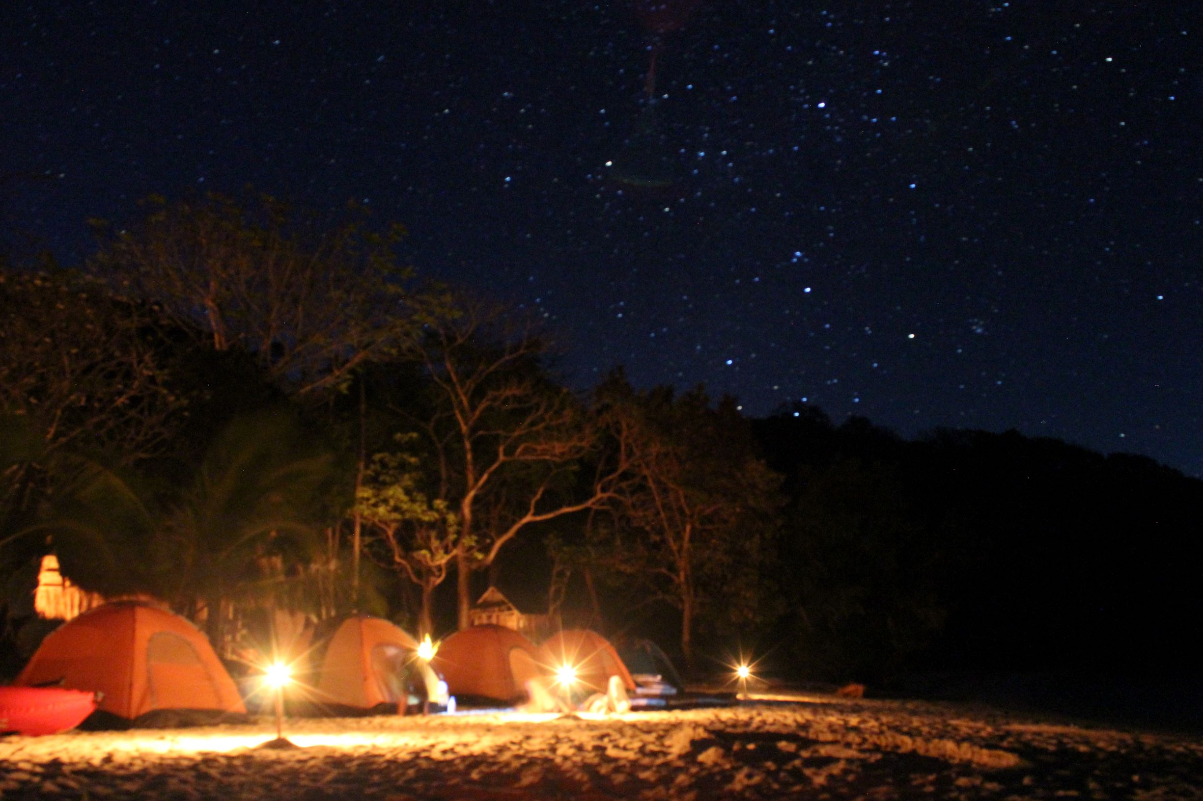 Our campsite night 1. Photo credit Janine Johnson