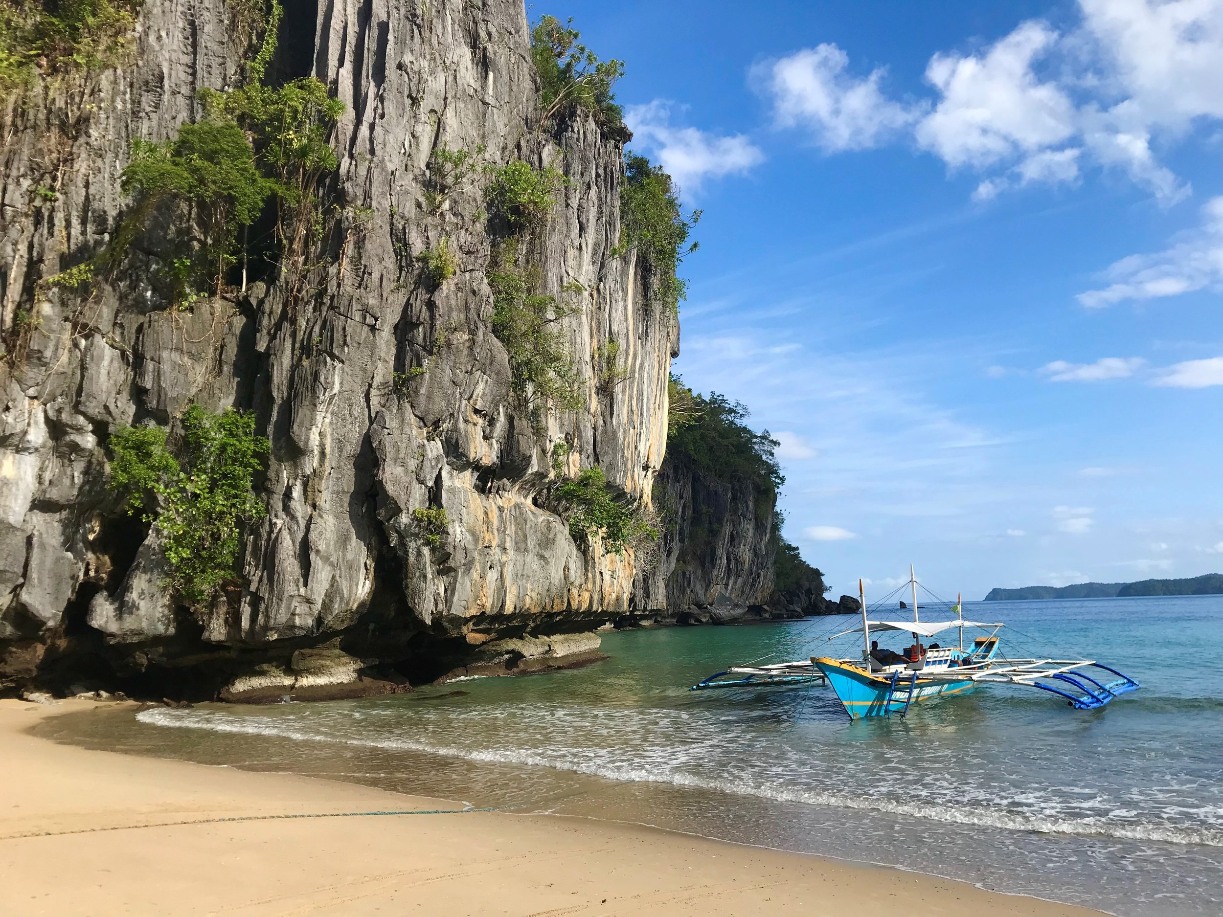 Sabang: a short walk from here through the jungle takes you to the Underground River