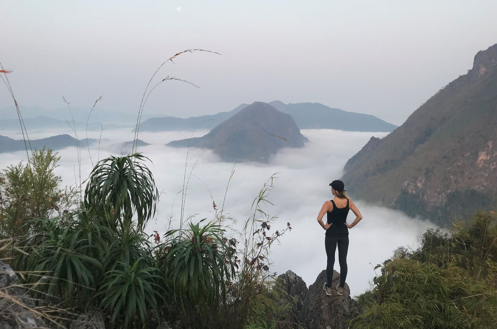 Nong Khiaw Viewpoint at sunrise