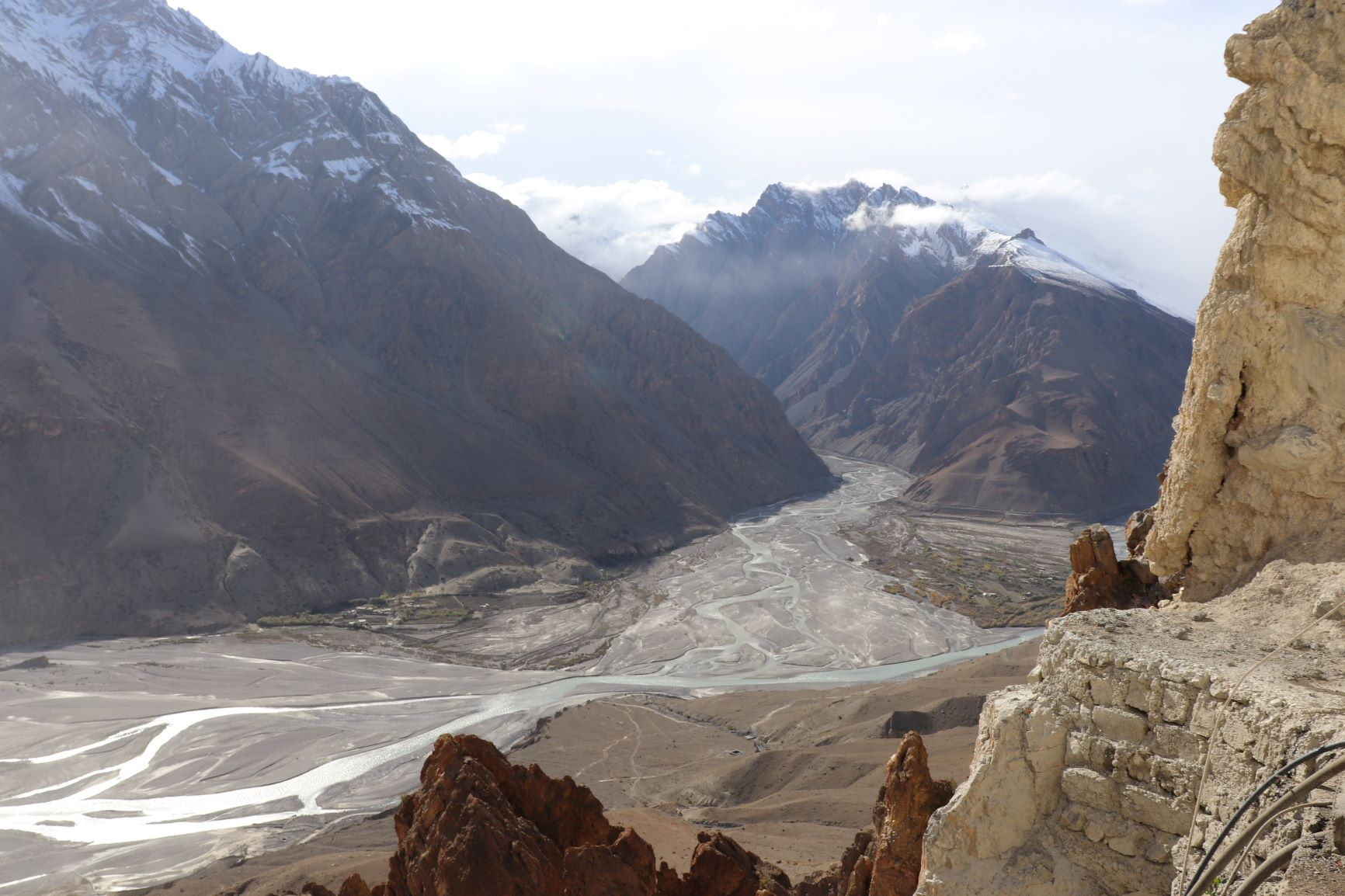 View from Dhankar monastery