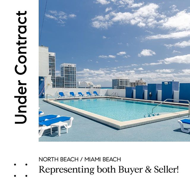 We are #undercontract repping both buyer and seller at one of our favorite buildings in North Beach #401blu. This entry level luxury building with low HOA is an investor's dream. #dm for ROI details on this purchase! #miamibeach #investmentproperty #compassmiami