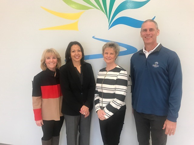 (L to R)Foundation Secretary and JCPRD Executive Director Jill Geller, Johnson County Manager Penny Postoak Ferguson, JCPRD Superintendent of Recreation Rhonda Pollard and Foundation Treasurer and JCPRD Deputy Director Jeff Stewart