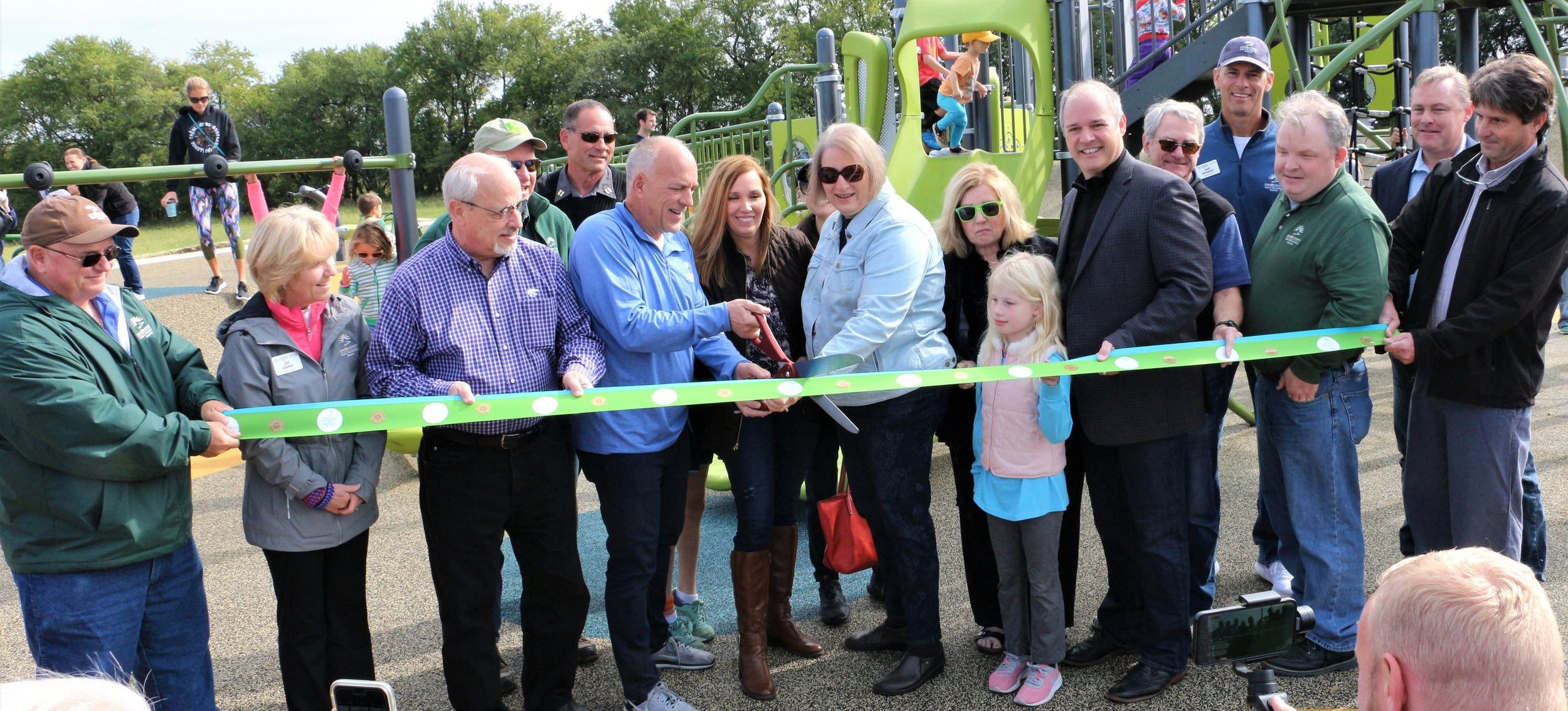 Ribbon+Cutting+at+a+Park+Opening