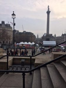 Trafalgar Square, from the steps of the National Gallery.