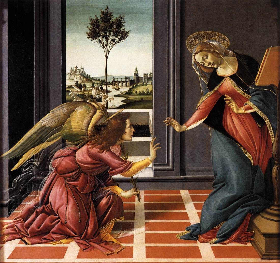 Annunciation, Botticelli