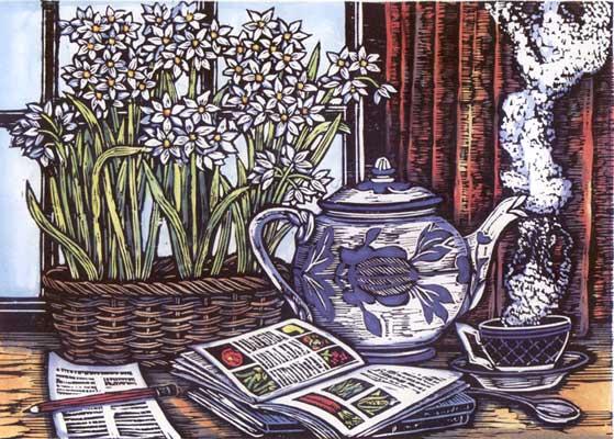 Mary Azarian,  January Teatime