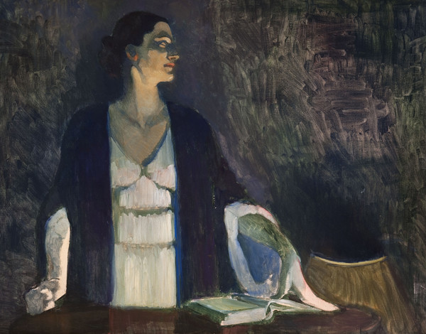 Violet Oakley,  Study for Portrait of Edith Emerson Lecturing, Lake George