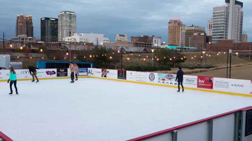 Ice Skating at Railroad Park