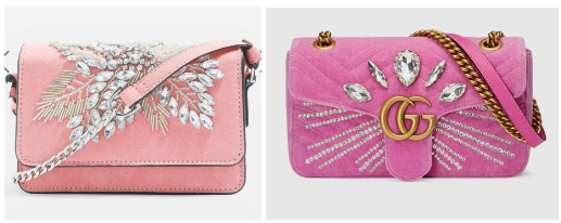 Gucci and Topshop crossbody bags