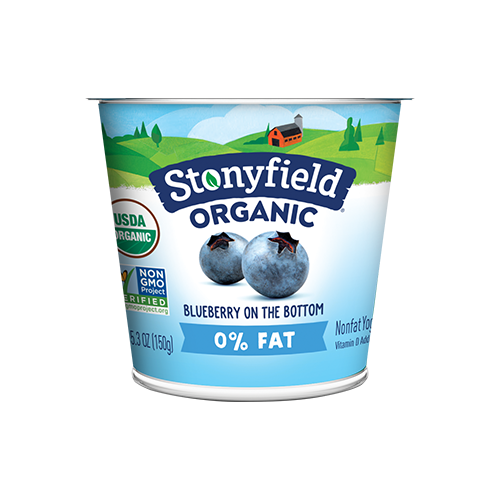 Stonyfield - Similar to Horizon, but in cerulean blue, Stonyfield has incorporated a quaint animated farm and labeled their product as organic. Owned by another large corporation, Dannon, who also has a subpar track record of meeting organic and even FDA regulations. Their stylish graphics intended to distract from a cup of gastric lesions gives them a cool 6.5/10 on the CGS.