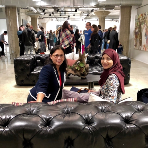 2018 Fellow Eric Grabin (not in picture) joined SEA alumni  Christy Serrato  and  Samira Ghossein at the Launch Party for the  Urban Hive at The Cannery  in Midtown.