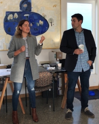 SEA 2018 Fellow Clarisse Baca  pitched  Activity Jungle with co-founder/husband  John Meidinger at the Holiday Mixer held in  Repower Yolo .