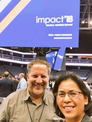 SEA Mentor  Michael Freedman  w/ Program Director  Christy Serrato  at Impact Global Summit