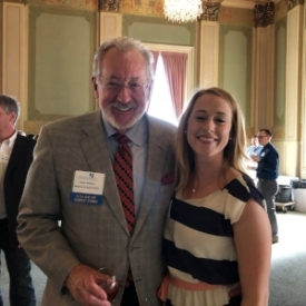 SEA Board Member Gary Hudson w/ Alumna Rachel Shumway