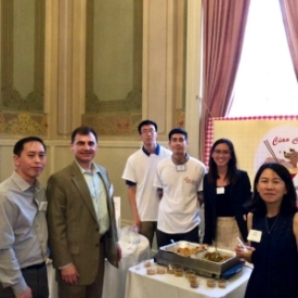 SEA Contributing Sponsors  Mike Rizzo of Five Star Bank  and  Syta Saephan & Anh Tran of Notifii with Class of 2018 Ciao Chow team,  Andrew Leung ,  Edgar Tapia Mendoza  &  Nicole Garcia