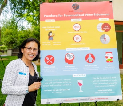 Pandora for Personalized Wine Enjoyment, Pair Anything ,founded by SEA alumna, Christy Serrato , wins Big Bang! Food+Ag Innovation Poster and Pitch Competition.