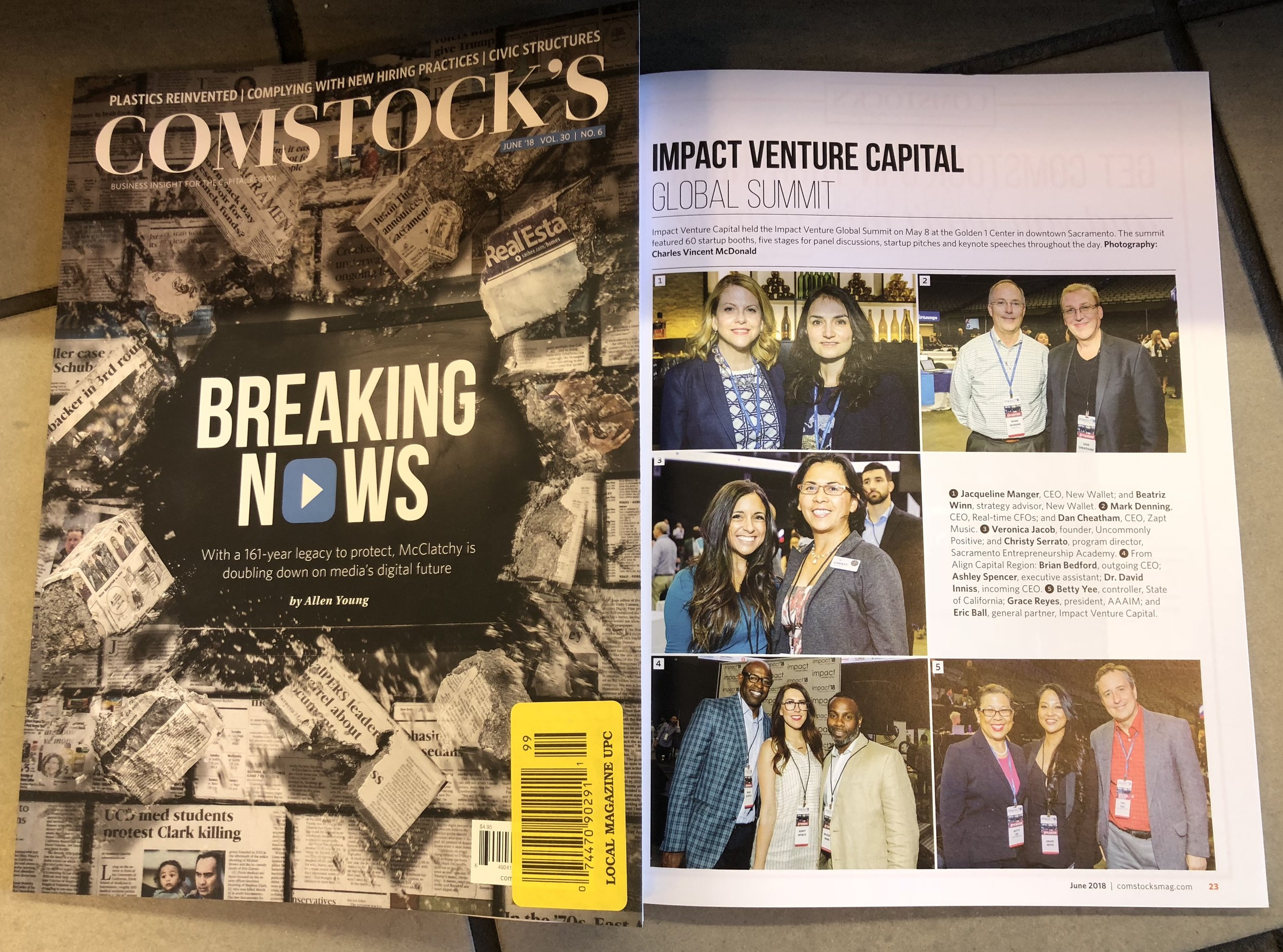 SEA Mentor Veronica Jacob and SEA Program Director Christy Serrato in the spotlight at the Impact Venture Capital Summit covered by Comstock