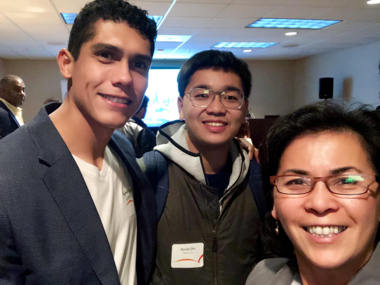 Asian Opportunities Networking Reception:  SEA Alumnus Alejandro Raygoza, 2019 Fellow Benda Zhu and Program Director Christy Serrato