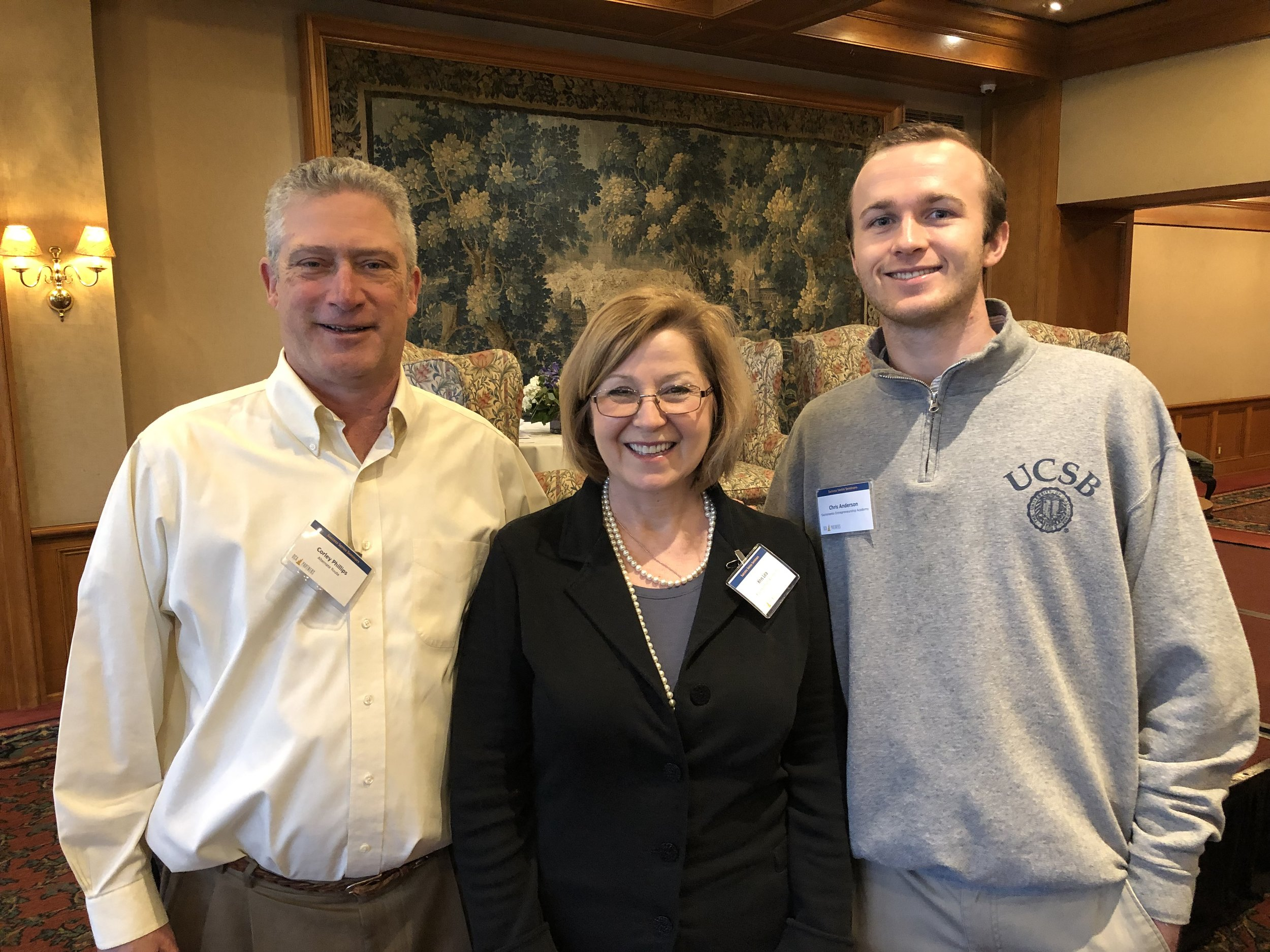 SEA Board Member Corley Phillips with 2019 Fellows Kris Lea and Christopher Nolan
