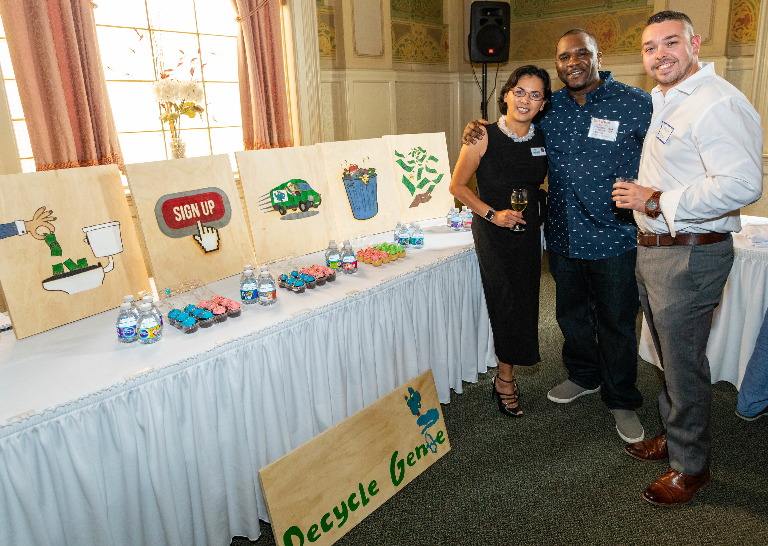 Mark exhibiting Recycle Genie at the SEA Showcase
