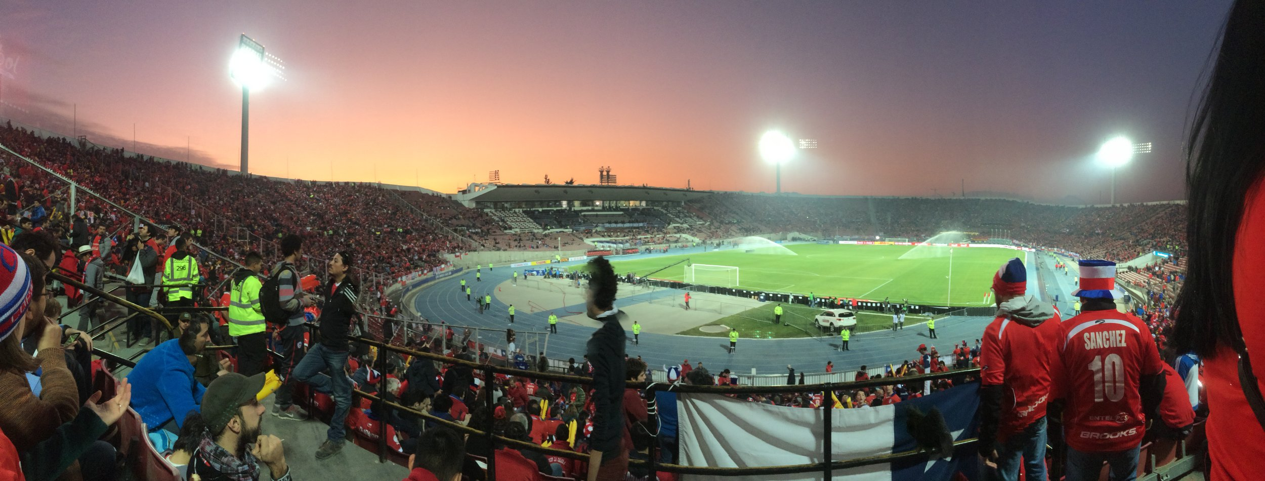 The 2015 semifinal against Peru in the Estadio Nacional, and the beautiful sunsets of particulate pollution