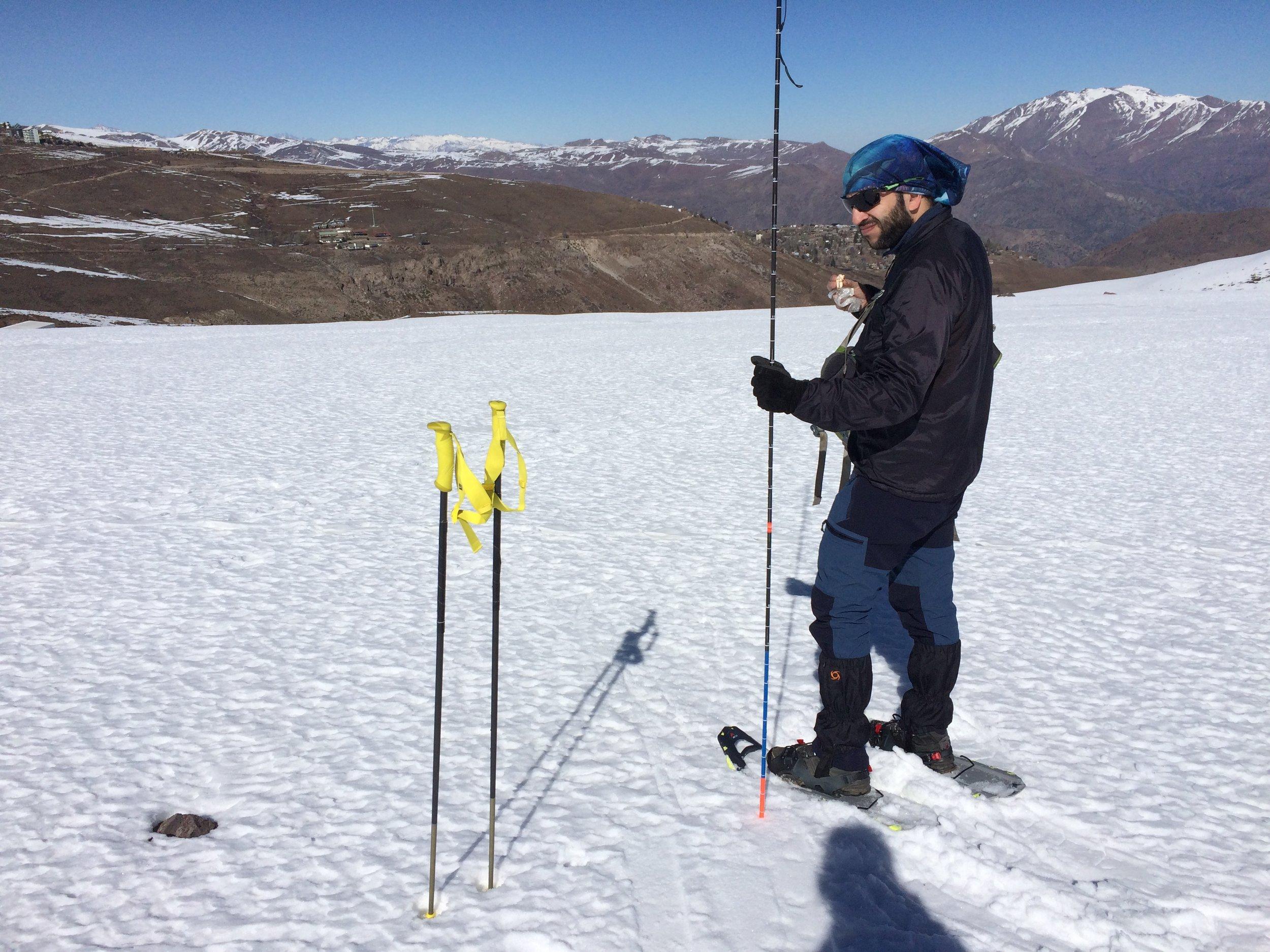 Multitasking: depth measurements, lunch