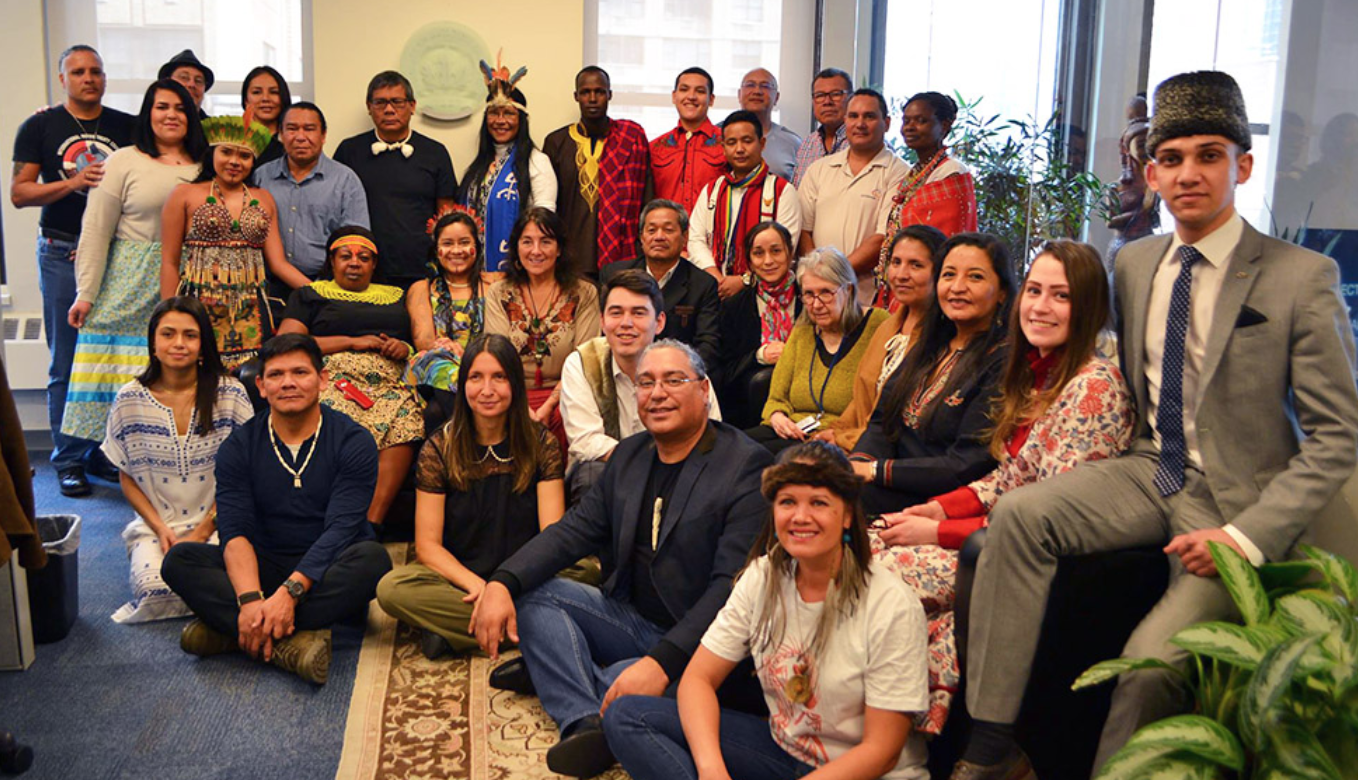 Project Access trainees represented the 7 recognized Indigenous regions of the world, facilitated by the Tribal Link Foundation at the UN Development Program in New York, NY.