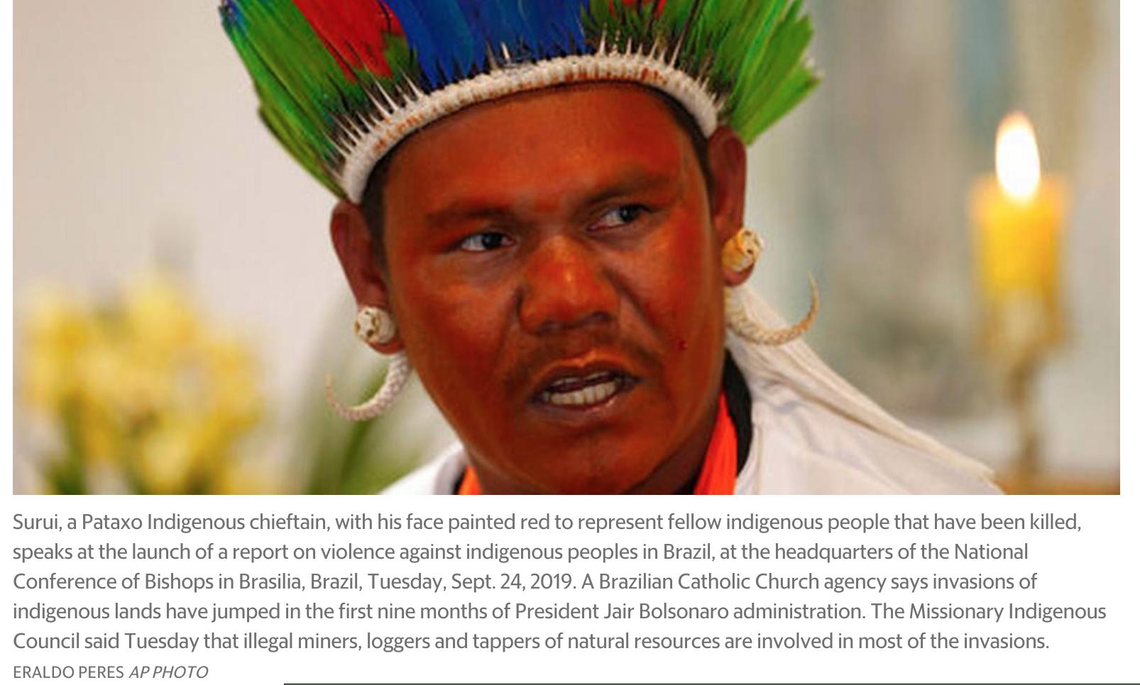 Surui a Pataxo Indigenous chieftain.jpg