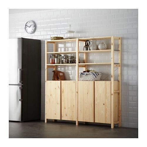 IKEA IVAR shelving system.