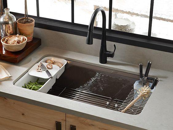 Kohler Riverby kitchen sink.