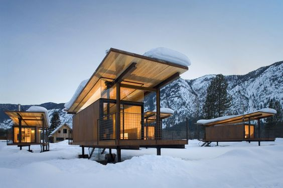 Rolling Huts by Olson Kundig.
