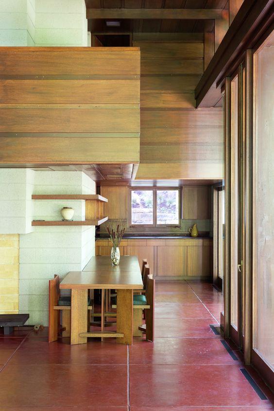 Bachman-Wilson House by Frank Lloyd Wright.